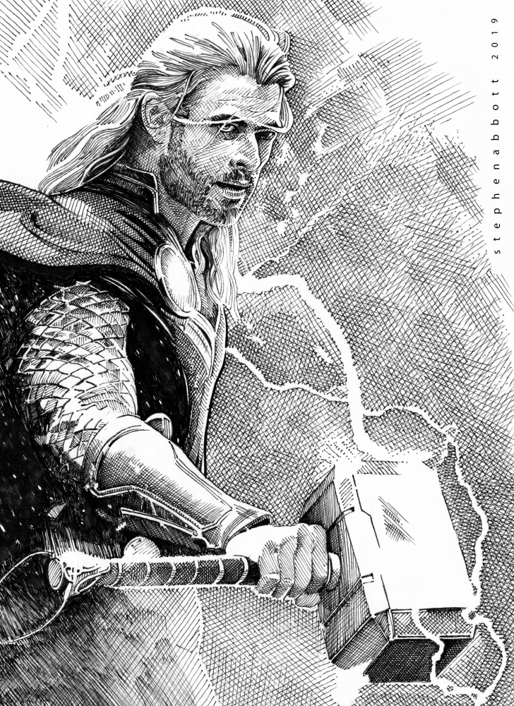 Chris Hemsworth by Stefanosart